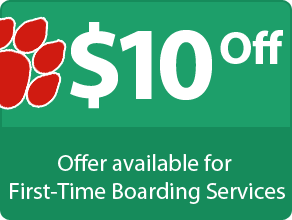 $10 Off - Offer available for First-Time Boarding Services